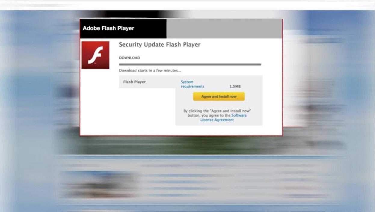 Fake Adobe Flash Player update popups spreading Mac scareware