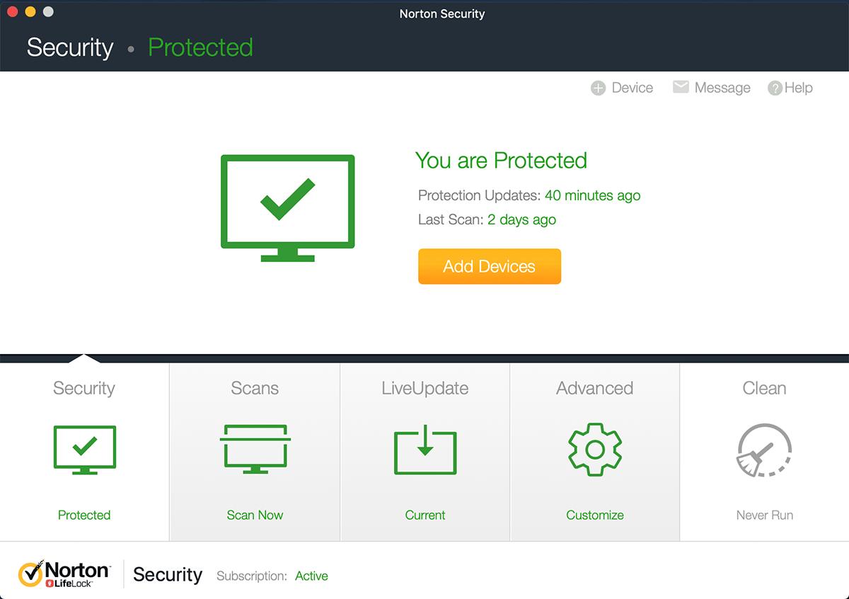 Norton Security Mac